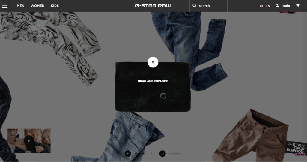 G-Star RAW - innovation digitale